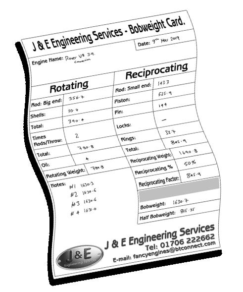 J and E Engineering Balancing Page